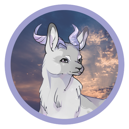 Esther the Llama, by @salandit